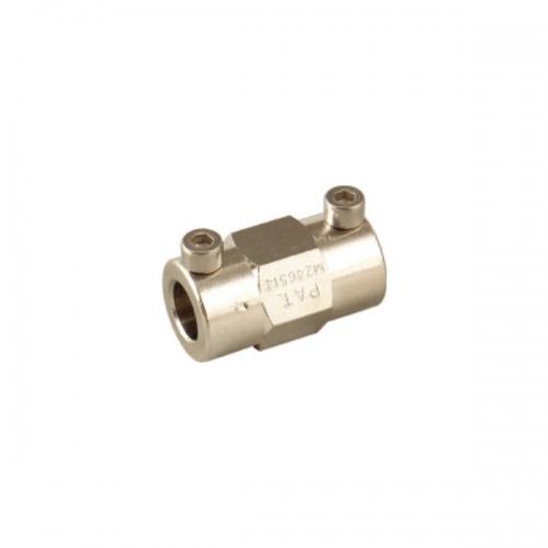 White iron pipe nozzle socket.